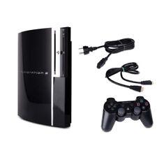 Playstation 3-PS3 Consola Fat 60Gb Cechc04 Negro + Todos los Cables + Mando