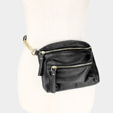 CROSSBODY BAG / FANNY PACK DUAL-LEATHER