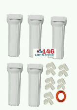 """5 pcs 10"""" Pre Filter Bowel /housing  wit elbow Ro water filter(with out spun )"""