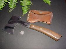 Vintage CASE'S TESTED XX - hand axe - hatchet - w sheath - wooden handle