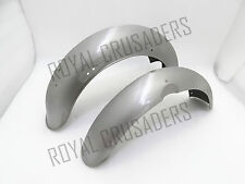 NEW NORTON FEATHERBED DOMINATOR 88 500CC MUDGUARD SET RAW STEEL (PRE-DRILLED)