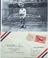 Donald W Douglas Sr Aviation Pioneer Founded Douglas Aircraft Co Signed Cover  .