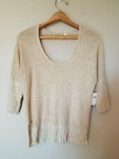 Moth Knit Top Shirt S Small Half Sleeve Pullover Solid Brown Casual NWT 69.99