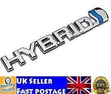 HYBRID Badge Emblem Toyota 3D ABS Chrome Logo Car Sticker Prius Auris Yaris Rav4