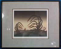 """Jean Michel Folon """"Le Coupable"""" Original Etching & Aquatint LE Signed Framed"""