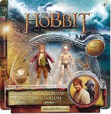 The Hobbit Action Figure Bilbo Baggins e Gollum