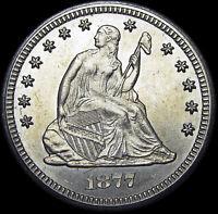 1877-CC Seated Liberty Quarter Silver   ---- GEM BU++ Type Coin  ---- #L404