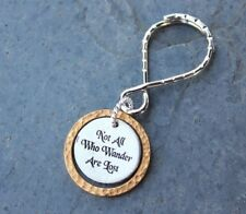 Not All Who Wander Are Lost Key Chain - Wizard wisdom- Fantasy- Fandom keyring