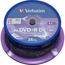 Dvd R Verbatim Double Layer Matt Silver tarrina 25uds