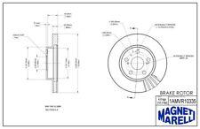 Magneti Marelli by Mopar 1AMR10131A Front Disc Brake Rotor