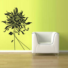 Wall Vinyl Sticker Decal Flower Modern (Z1074)
