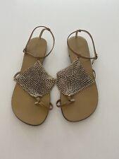 ALDO Diamante Toe Ring Sandals, Tan Size UK 5