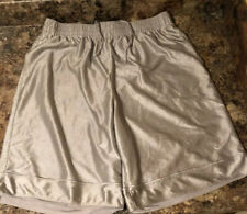 NIKE LINED SILVER BASKETBALL SHORTS W/POCKETS-MENS SIZE XL-VERY NICE!
