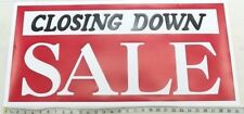 """CLOSING DOWN SALE SIGN Shop Window Sale Sign POSTER 35"""" x 13.5"""" x 1"""