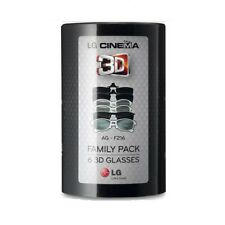 LG AG-F216  CINEMA 3D GLASSES FAMILY PACK 6 PAIRS Factory Sealed