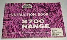 Ford 2700 Range 4amp6 Cyl Diesel Engine Operators Instruction Manual Book Original