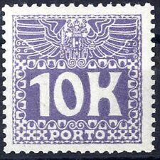1911 ANK 46 violett Höchstwert Portomarke postfrisch 10 Kronen KW 1.000, -