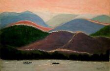1970's MODERNIST LANDSCAPE AMERICAN Artist G.H. SCHAEFLER Sd. ORIGINAL O/C LARGE