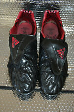 RARE BLACK ADIDAS PREDATOR POWERSWERVE TRX FG  FOOTBALL BOOTS CLEATS SIZE 10.5