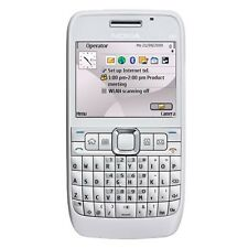scretchless Original Nokia E63 3G PHONE QWERTY Keypad-Blue-FM ! Call Recording