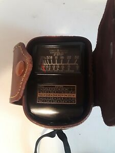 Vintage Weston Model 853 Light Exposure Meter With Leather Case