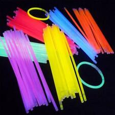 100x 20cm Glow Sticks Bracelets Necklaces Fluorescent Neon Light Sticks Party