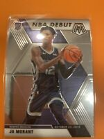 2019-20 PANINI MOSAIC JA MORANT RC NBA DEBUT BASE GRIZZLIES 274 #274