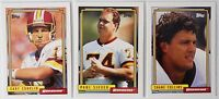 1992 Topps High Number Series Washington Redskins Team Set of 3 Football Cards