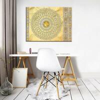 CANVAS Leinwand bilder XXL Mandala in Gold Bild Wandbild F04976