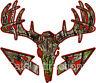 Dark Red Camo Deer Skull S4 Arrows Vinyl Sticker Decal hunting buck bow archery