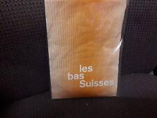 VINTAGE Les Bas Suisses LISSE Taglia 8.5 -9 Seamfree Calze