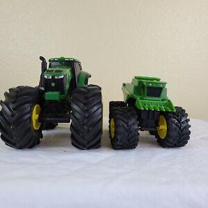John Deere Monster Treads Lights & Sounds Set Of 2 (Tractor & Combine)