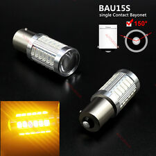 2X 1156 BAU15S PY21W LED DRL Daytime Running Light Amber Yellow Bulb 5630 33SMD