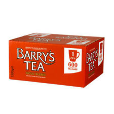 """Barrys Tea Gold Label 2x600's """"The taste of Ireland"""" just £0.03p a cuppa !!"""