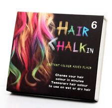 Coloración Cabello Temporal de tiza de pelo 6 colores pasteles suaves Kit De Salón