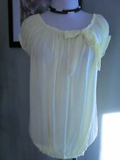 Kate Fashion Made in Italy Lemon Yellow Blouse Shirt Top Size M
