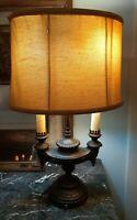 HEAVY authentic Quartite antique Chalkware Lamp Bouilotte Frederick Cooper Style