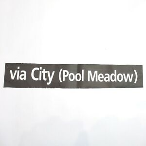 Via City Pool Meadow Bus blind destination vintage printed West Midlands 1994