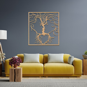 050 Tree of Life Faces Hanging Modern Contemporary Wall Hanging Wooden Art Gift