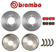 For Toyota Tundra Front & Rear Brake Kit Rotors Drums Ceramic Pads Shoes Brembo