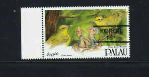 PALAU $10 Definitive KOROR RP PRECANCEL on Scott 283 Bush Warbler