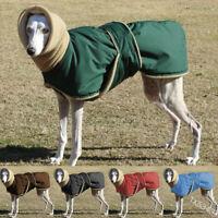 Winter Warm Thicken Pet Large Dog Contrast Hoodies Coat  Jacket Vest Puppy Cloth