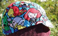 CYCLING CAP MARVEL COMIC  100% COTTON  ONE SIZE HANDMADE