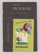 Orig.PRG   World Cup SWEDEN 1958    SWEDEN - MEXICO  !!  EXTREM RARE