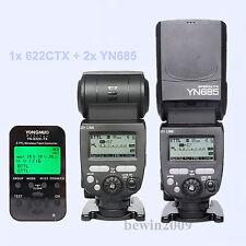 Yongnuo TTL 2pcsYN685 HSS Flash Speedlite + 1* YN622CTX Flash trigger for Canon