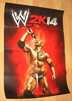 2k14 WWE 2014 Promo Poster Rock from Gamescom 2013 very Rare 59x84cm