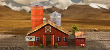 1/64 Slot Car HO Farm Photo Real Scale Barn Kit Model Diorama Scenery Sets