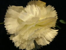 "Vintage Millinery Flower 3"" Frilly White Carnation KC7"