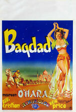 Bagdad Maureen O'Hara Vincent Price movie poster print