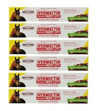 Horse Wormer Equine Ivermectin Durvet 6 Tubes 1.87% Apple Flavored Paste